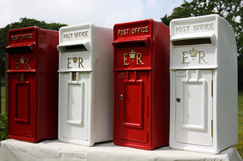 Wedding Post Boxes on display in Hampshire